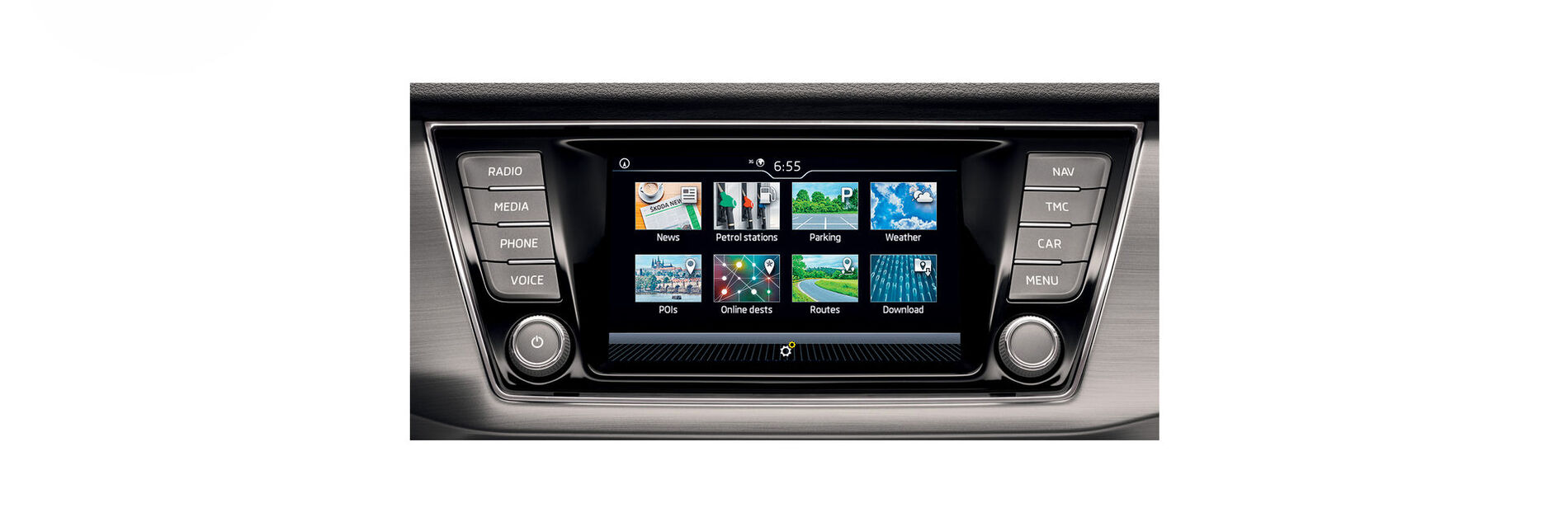 Infotainment Display beim SKODA FABIA Combi
